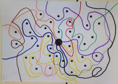 Nos encantan el taller de grafismo, sacar los rotuladores y meternos en una historia divertida que nos evita tener que trabajar la práctica... Chroma Key, Dotted Drawings, Diy And Crafts, Arts And Crafts, Kindergarten, Primary Education, First Game, Motor Activities, Art Graphique