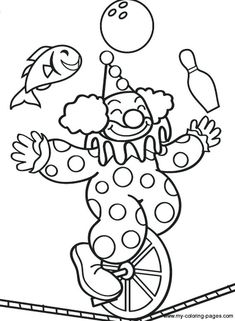 Clown Coloring Pages Circus Printable Page Jamiejo Pro Printable Coloring Pages, Colouring Pages, Coloring Pages For Kids, Coloring Books, Circus Activities, Circus Crafts, Music Drawings, Easy Drawings, Art Du Cirque