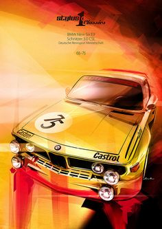 two-euks:  BMW e9 CSL Illustration by Stylus One on Flickr.