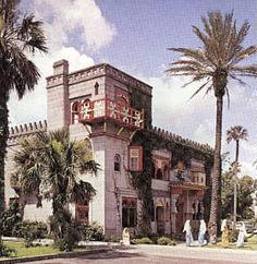 *Zorayda Castle: St Augustine Flordia  a replica of the 12th century Alhambra- the most famous castle in old Granada Spain. The replica was built in 1883 by Franklin Smith, a Bostonian as his home.