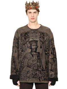 Dolce & Gabbana Federico Ii Shearling Sweatshirt on shopstyle.com