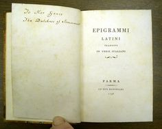 Hipstoric – 1798 Bodoni. This is a wild titlepage. Look at the semi-colon, makes the brace look like a moustache and a beauty spot.