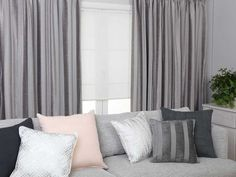 Stunning smoke grey Annabella pencil pleat curtains featuring a widely striped design that has a thick luxurious velvet-like texture. Plastic Curtains, Large Curtains, Types Of Curtains, Home Curtains, Pleated Curtains, How To Make Curtains, Lined Curtains, Hanging Curtains, Curtains Ready Made