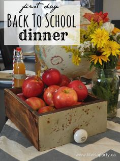 Back to School Dinner -A first day of school dinner family tradition, a great…