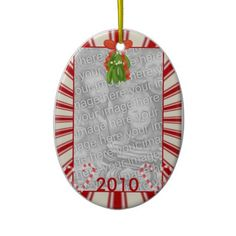Candy Cane Frame Ornament Add your picture and change the year
