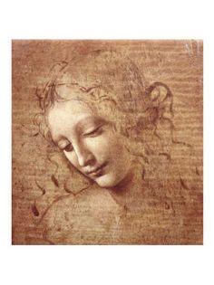 Female Head (La Scapigliata), c.1508  Leonardo da Vinci