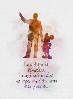 Walt disney mickey mouse quote art print nursery, gift, wall art, home decor Disney Tattoos Quotes, Walt Disney Quotes, Disney Birthday Quotes, Famous Disney Quotes, Disneyland Quotes, Beautiful Disney Quotes, Disney Quotes To Live By, Dreamy Quotes, Tattoo Quotes