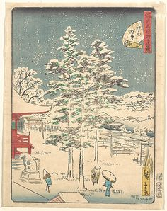 Utagawa Hiroshige (Japanese,1797–1858). Kanda Temple Snow, 1861. Edo period (1615–1868). Japan. The Metropolitan Museum of Art, New York. Bequest of Julia H. Manges, 1960 (JP3414)
