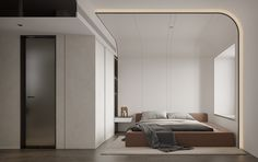 艺术之宅 on Behance Modern Wall Paneling, White Wall Paneling, Wall Panelling, Spa Interior, Home Interior Design, Interior Architecture, H Design, House Design, Store Design