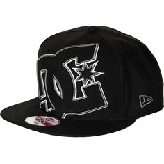 DC Double Up New Era Snapback Hat ($28) ❤ liked on Polyvore featuring accessories, hats, dc shoes hats, snap back hats, dc shoes and snapback hats