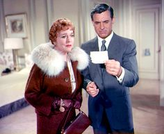 Jessie Royce Landis and Cary Grant in the movie, North by Northwest (1959)