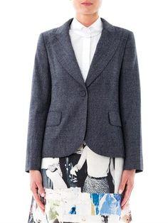 Carven - tweed single-breasted wool blazer ($574)
