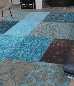 Vintage Patchwork - Turquoise 8105 - Louis De Poortere Store