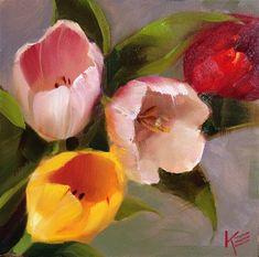 Tulips - Original Fine Art for Sale - © by Krista Eaton