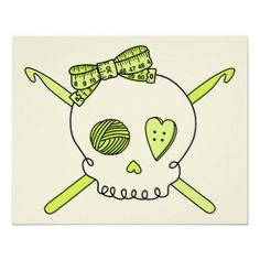 Skull & Crochet Hooks. .... for my sister Michelle Sneed! !!!!