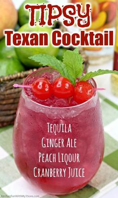 Tequila Mixed Drinks, Mixed Drinks Alcohol, Liquor Drinks, Alcohol Drink Recipes, Juice Drinks, Cocktail Drinks, Fun Cocktails, Beverages, Mixed Drink Recipes
