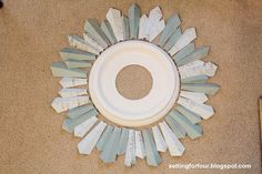 How to make a Sunburst Mirrror from a Ceiling Medallion from Setting for Fou