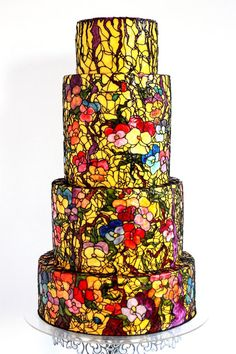 Pansies - cake by Queen of Hearts Couture Cakes Beautiful Cake Designs, Gorgeous Cakes, Pretty Cakes, Amazing Cakes, 1920s Wedding Cake, Floral Wedding Cakes, Buttercream Decorating, Cookie Decorating, Hand Painted Cakes