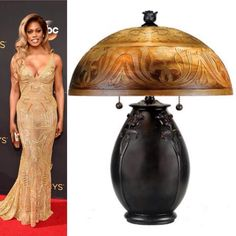 We think this Art Nouveau lamp and gown win best dressed at the 2016 Emmys! Quoizel Lighting, Table Lamps, Art Nouveau, Nice Dresses, Red Carpet, Strapless Dress, Glamour, Gowns, Instagram Posts