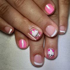 Instagram Posts, Beauty, Work Nails, Short Nail Manicure, Nail Manicure, Polish Nails, Cute Nails, Beauty Illustration