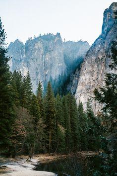 mountains   trees   lake