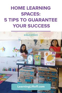 Back to school looks a little different this year. Make sure your home learning spaces make learning productive and fun with these 5 tips and inspirational examples! Home Learning, Learning Spaces, Fun Learning, Space Words, Learning Stations, Organizing, Organization, Student Success, Study Space