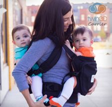 58786a105c8 The TwinGo Twin baby carrier. Two carriers in one. Amazing for twin moms  and dads.
