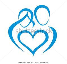 family, love symbol, stylized in simple lines by baldyrgan, via ShutterStock Zibu Symbols, Symbols And Meanings, Celtic Symbols, Love Symbols, Baby Tattoos, Family Tattoos, New Tattoos, Body Art Tattoos, Tatoos