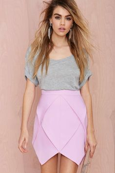 Jagged Little Frill Skirt - Lavender | Shop What's New at Nasty Gal
