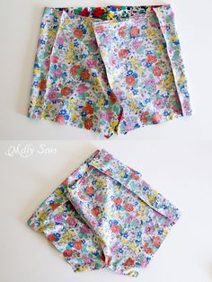 Step 2 - Boxer Pajama Shorts (with free pattern) - MellySews