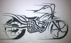 Two Wheels move the soul....  Tribal motorcycle art