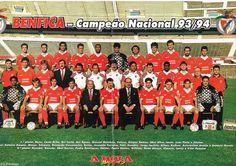 O @SL_Benfica campeão nacional em 1993/94 (já com Manuel Damásio e Gaspar Ramos) (poster @abolapt).