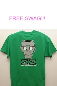 """Zombie Sports has FREE swag for you today Snaggers!  They're randomly giving out everything from stickers to T-Shirts!  Just click Snag This right now and fill out the short form to order your FREE swag, who knows what you'll get!  Remember to """"like"""" this offer so all your Facebook friends can find …"""