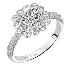 Art carved Bridal: Idalis. Gorgeous Art Carved rings at Keswick Jewelers in Arlington Heights, IL 60005, www.keswickjewelers.com