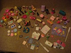 Vintage - Genuine Barbie 1970s - 80s Accessories (127 PIECES) LOT