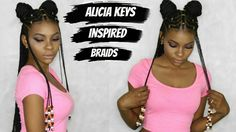 Fulani Inspired Braids with Beads feat Her Given Hair (Alicia Keys inspired) Black Girl Braids, Braids For Black Hair, Girls Braids, Black Girls Hairstyles, Summer Hairstyles, Weave Hairstyles, African Hairstyles, Alicia Keys Braids, Afro
