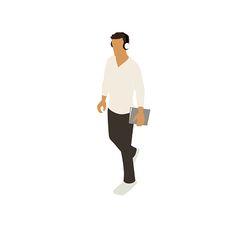 Vector Man Vector Man Man walking with notebook illustration vector art illustration Architecture People, Architecture Collage, Man Vector, Vector Art, People Illustration, Graphic Illustration, Photomontage, Render People, Thumbnail Sketches