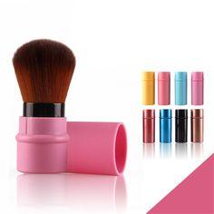 1pc Mini Portable Makeup Brush Retractable Blush Brush Foundation Powder Blush Brushing Brushes Beauty Cosmetic Tools