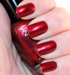 Fall is my favorite time of year for deep shimmery reds and wines. Here is Zoya's Isla   (as shown on mylatestobsession.com)