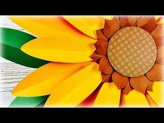 GIRASOL GIGANTE   CÓMO HACER UN GIRASOL   GIRASOL   DE PAPEL   MOLDES GRATIS   GIANT PAPER SUNFLOWER - YouTube