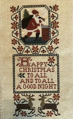 Condition is New. Christmas Stocking Pattern, Christmas Cross, Christmas Stockings, Everything Cross Stitch, Cross Stitch Collection, Types Of Embroidery, Crossstitch, Bohemian Rug, Santa