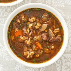 Beef and Barley Soup for Two