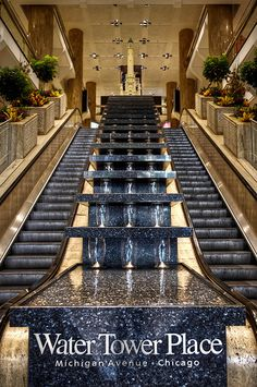 A sign you're in Chicago? Water Tower Place (Chicago Pin of the Day, Visit Chicago, Chicago Travel, Chicago City, Chicago Illinois, Chicago Trip, Chicago Today, Chicago Style, Water Tower Place Chicago, Barack Obama