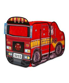 Take a look at this Fire Engine Play Tent on zulily today!