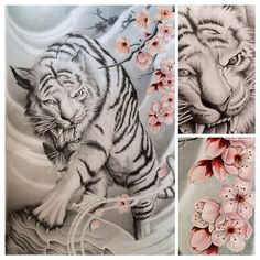 New tattoo designs sketches tiger Ideas Japanese Tiger Tattoo, Japanese Tattoos For Men, Japanese Tattoo Designs, Body Art Tattoos, New Tattoos, Sleeve Tattoos, Temporary Tattoos, Japan Design, Rite De Passage