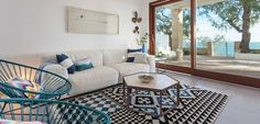 Casa decorada en estilo mediterráneo - http://www.decoora.com/casa-decorada-estilo-mediterraneo/