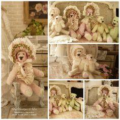 *♥ Atelier de Léa - Un Jour à la Campagne ♥* Teddy Bear Shop, Teddy Bears, Decoration, Creations, Objects, Toys, Animals, Random Stuff, Nostalgia