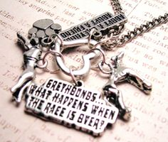 Greyhound Rescue  charm holder  necklace by MyTinyTemptations, $19.00