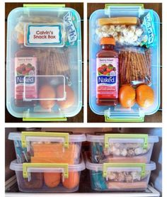 Road trip snack boxes