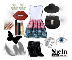 """""""~ Shein: MultiColour Dress"""" by moniquedawson09123 ❤ liked on Polyvore featuring Lime Crime, Chanel and Smashbox"""